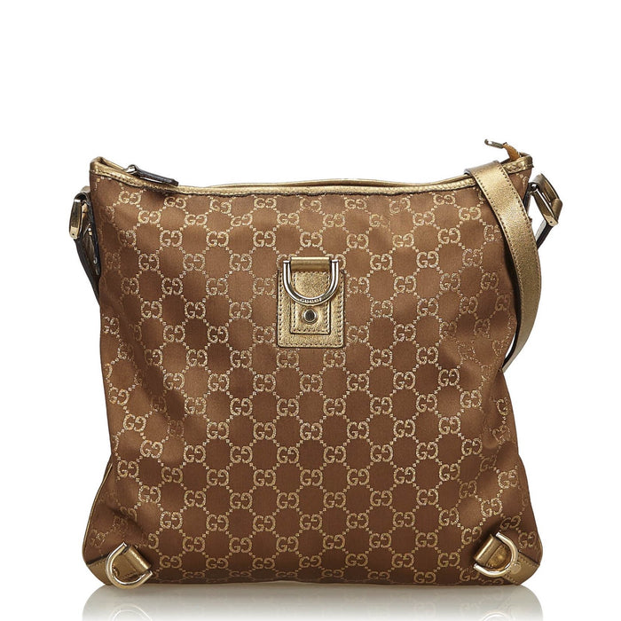 Abbey Monogram Nylon Crossbody Bag