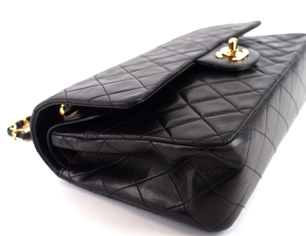 Classic Double Flap Medium Lambskin Leather Bag