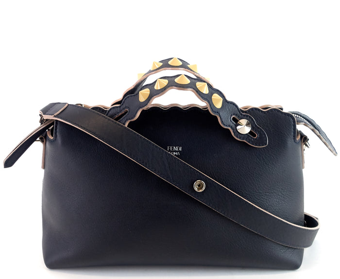 By The Way Studded Scallop Medium Calf Leather Bag
