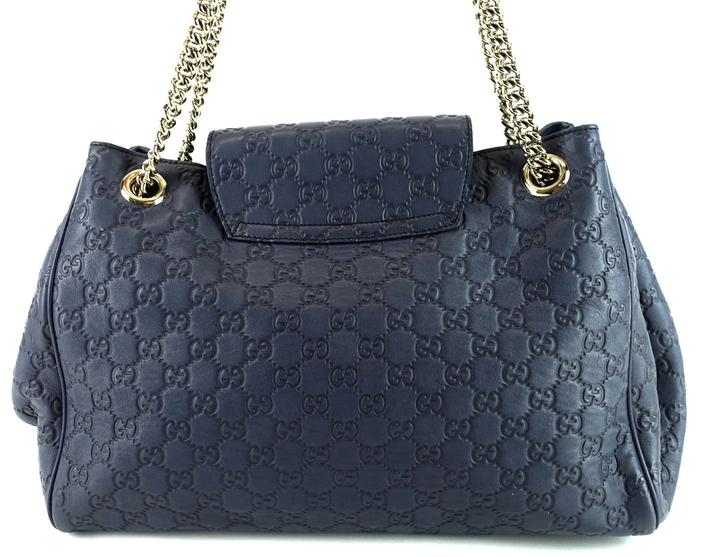 Emily Large Guccissima Leather Flap Bag
