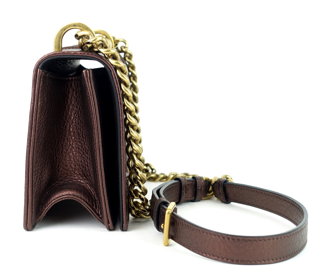 Diorama Small Calf Leather Flap Bag