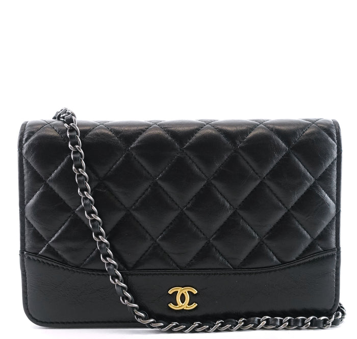 Wallet on Chain Matelasse Leather CC Crossbody Bag