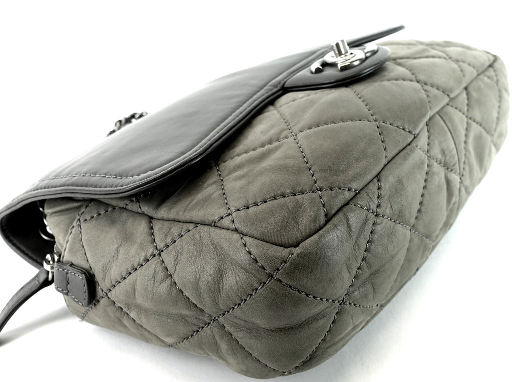CC Flap Quilted Leather Bag