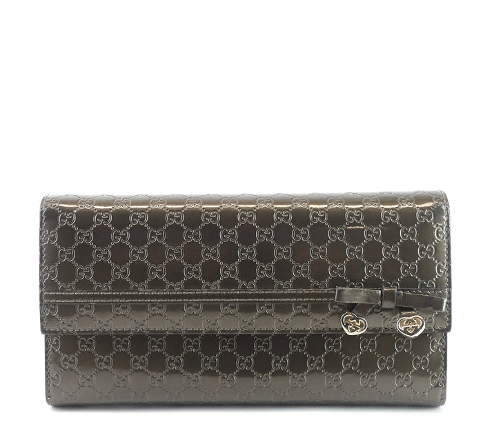 Candy Shine Microguccissima Patent Leather Wallet