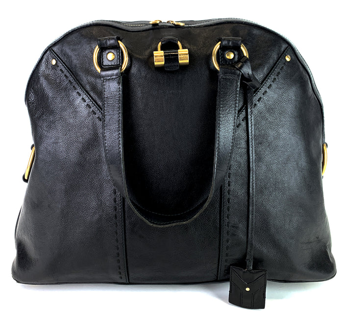 Muse Oversized Black Leather Bag