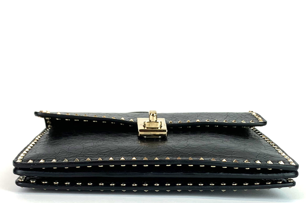 Micro Rockstud Leather Turnlock Flap Bag