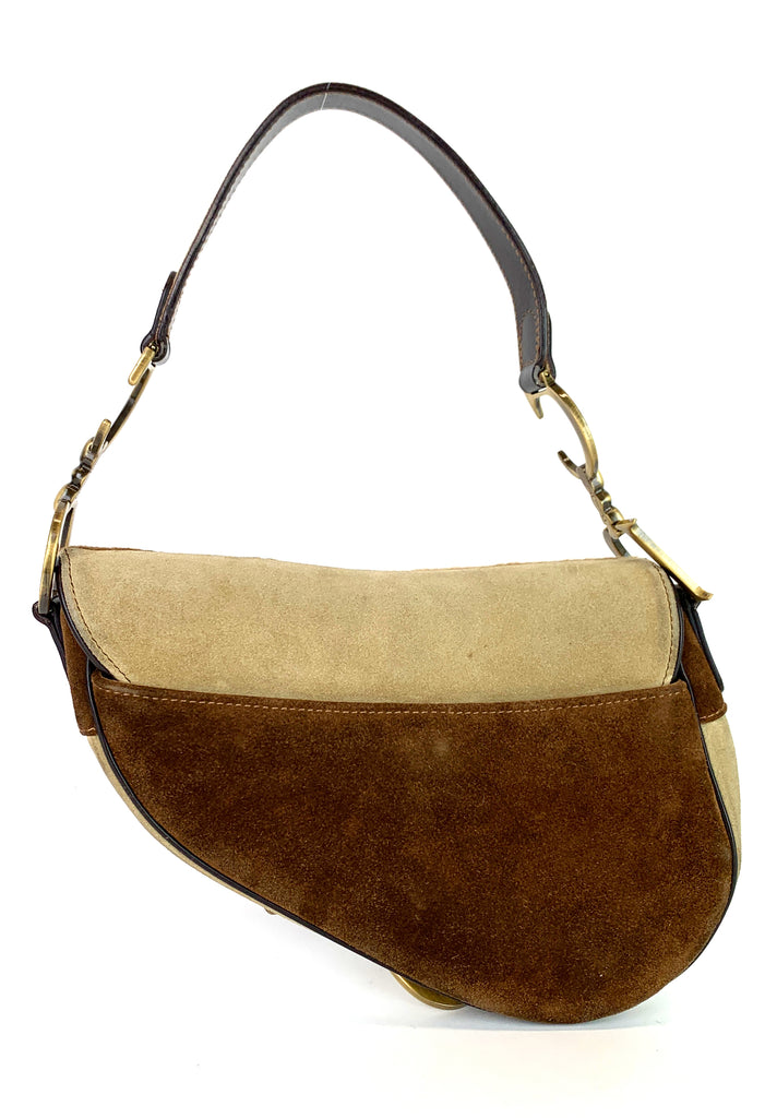 Suede Saddle Small Pony Hair Flap Bag