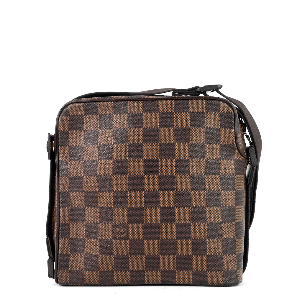 Olav PM Damier Ebene Canvas Messenger Bag