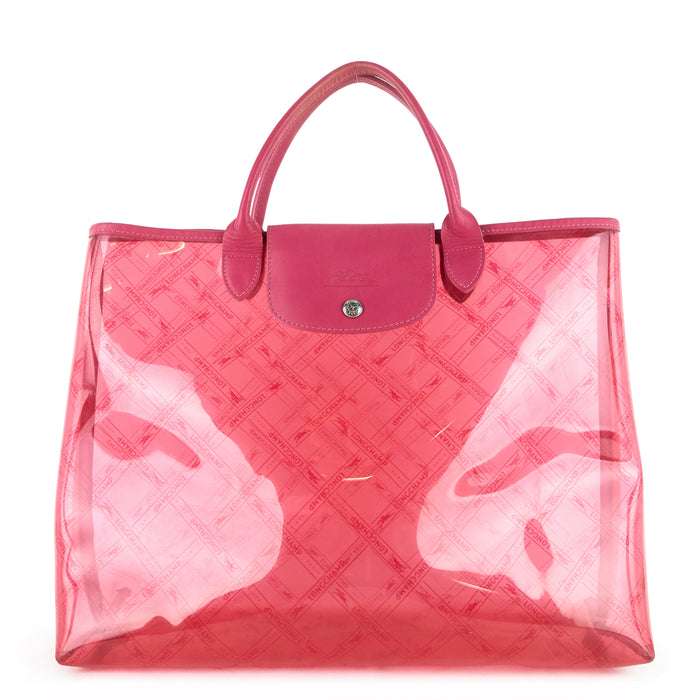 Longchamp Le Pliage Transparent Plastic Tote Bag