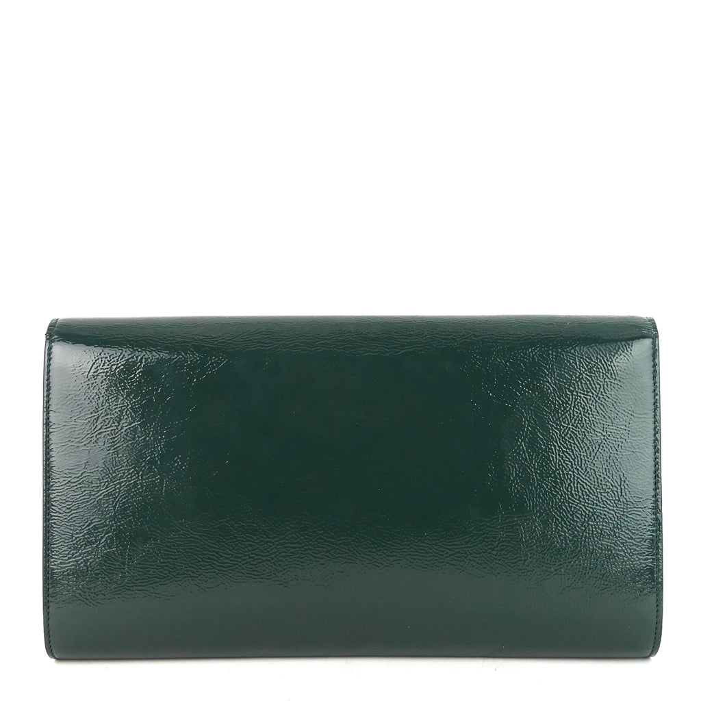 Belle de Jour Large Patent Leather Clutch Bag