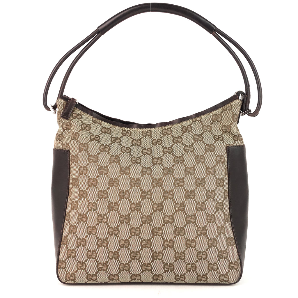 GG Canvas and Leather Shoulder Bag