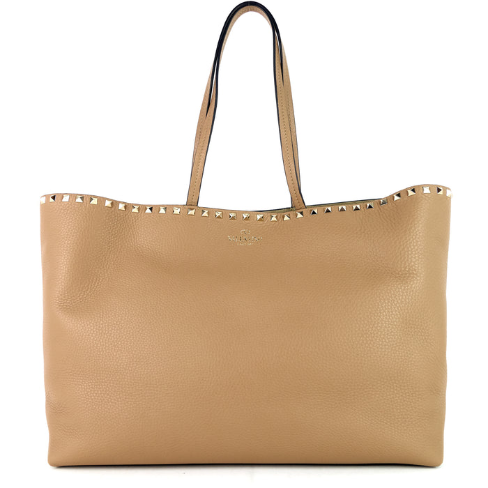 Rockstud Large Leather Tote Bag