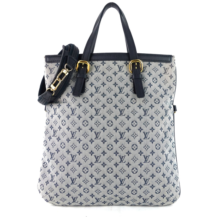 Francoise Mini Lin Monogram Canvas Bag