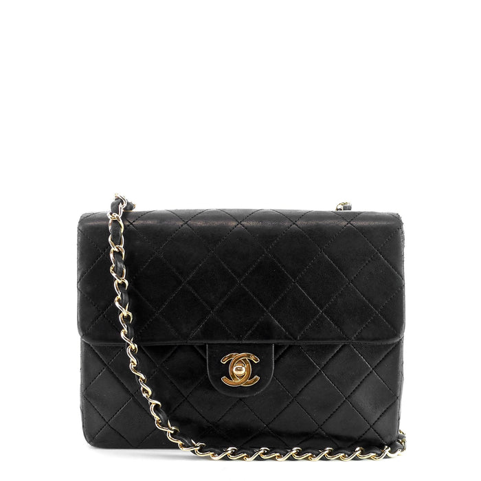 Quilted Lambskin Leather Single Flap Bag