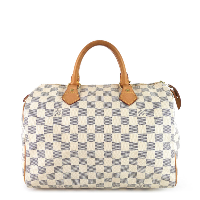 Speedy 30 Damier Azur Canvas Handbag