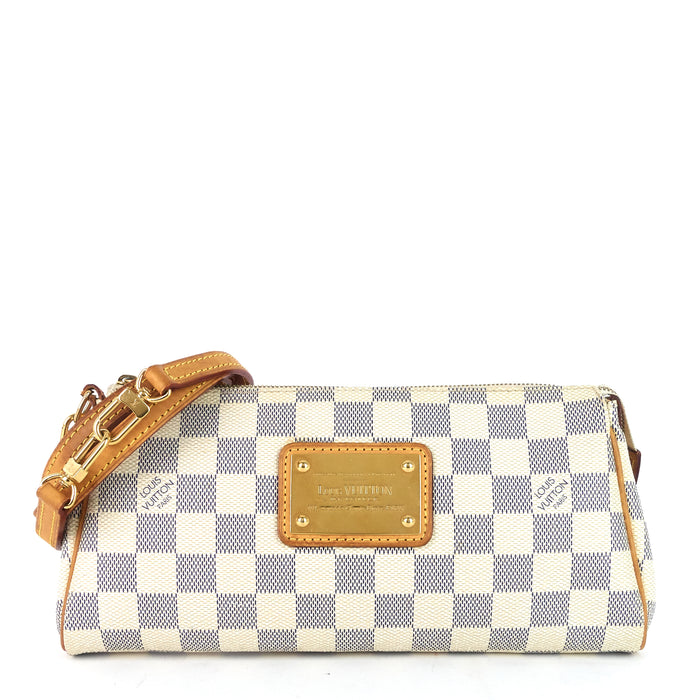 Eva Damier Azur Canvas Bag