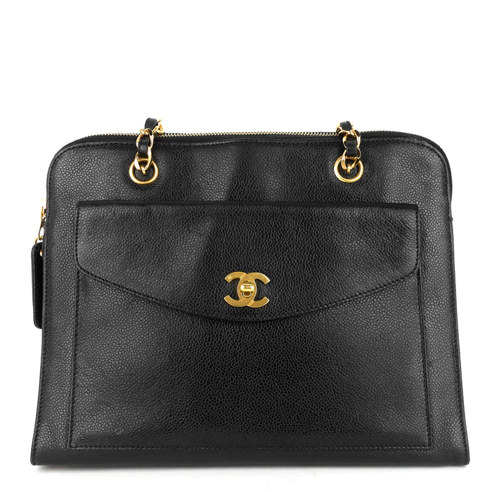 Caviar Leather CC Flap Pocket Bag