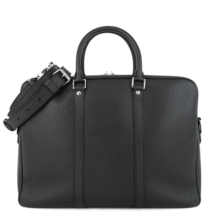 Porte-Documents Voyage PM Taiga Leather Briefcase Bag