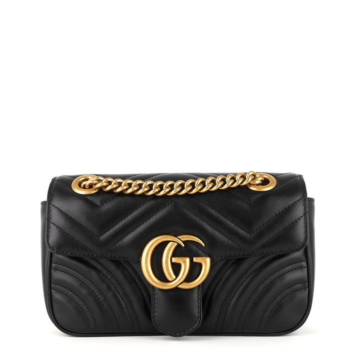 GG Marmont Mini Chevron Leather Bag