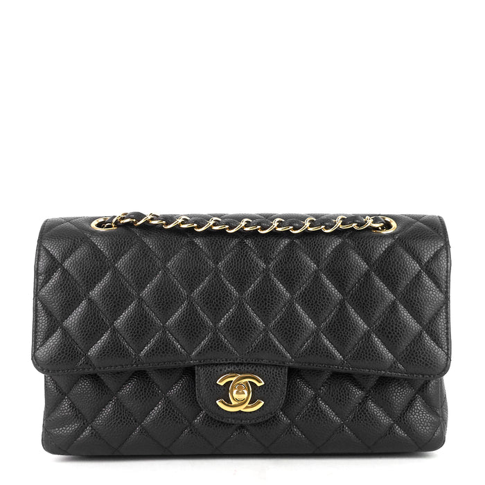 Classic Double Flap Medium Caviar Shoulder Bag