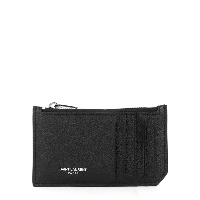 Fragments Zipped Grained Calf Leather Card Case