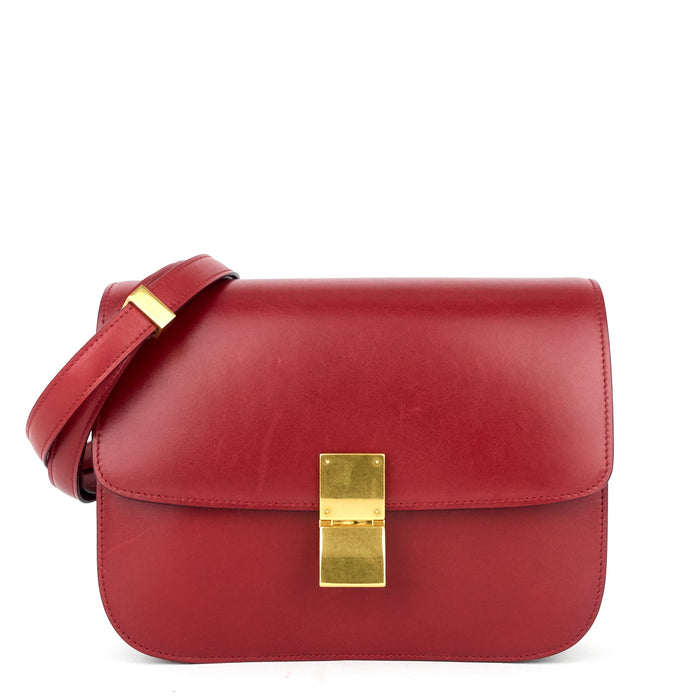 Box Flap Medium Calf Leather Bag