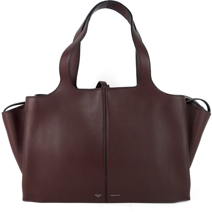 Tri-Fold Medium Calf Leather Bag