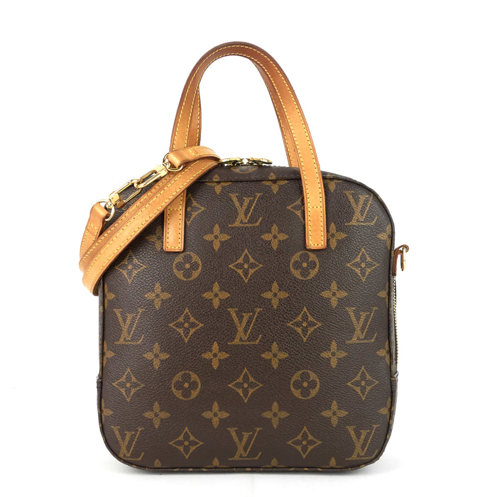 Spontini Monogram Canvas Bag