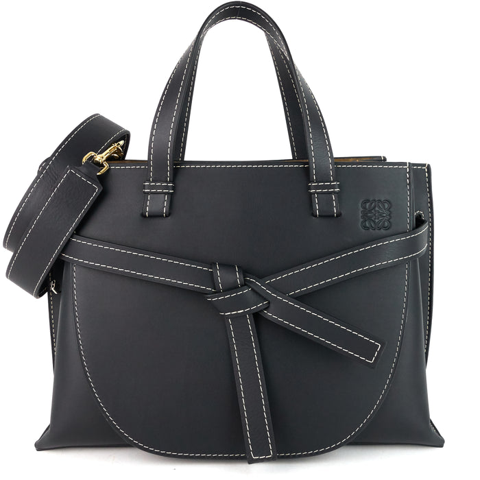 Gate Top Handle Small Calf Leather Tote Bag