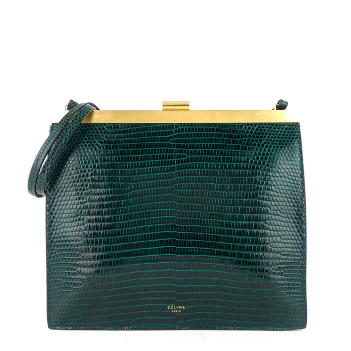 Mini Clasp Lizard Skin Clutch Bag