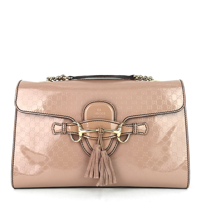 Emily Micro Guccissima Patent Leather Bag