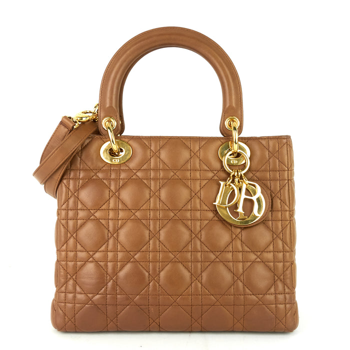 Lady Dior Medium Cannage Leather Bag