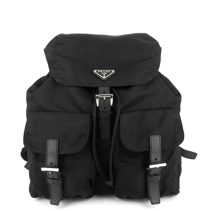 Drawstring Nylon Backpack Bag