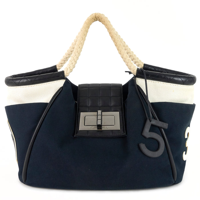Cruise Rope Canvas and Leather Cabas Tote Bag