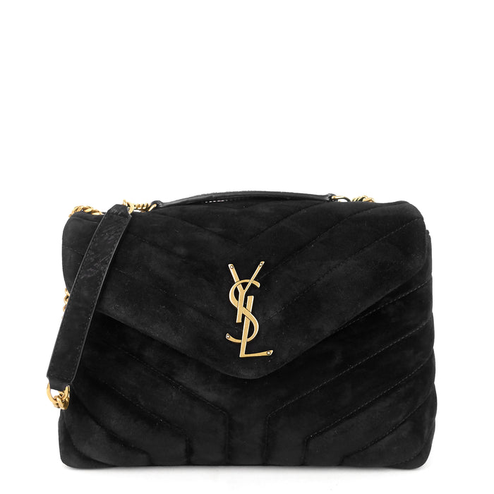 Loulou Medium Suede Shoulder Bag