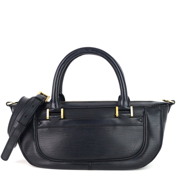 Dhanura Black Epi Leather Handbag