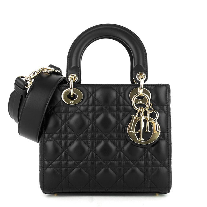 Lady Dior Small Cannage Leather Handbag