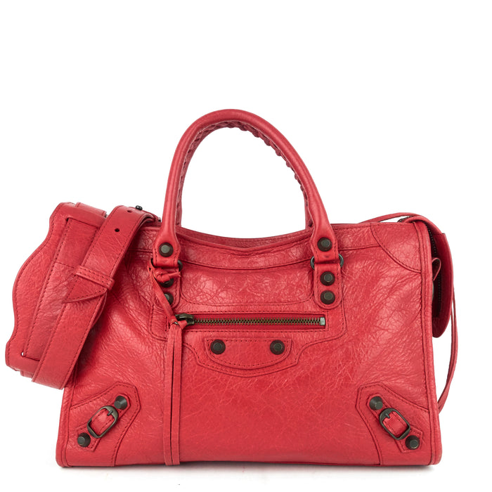 Classic Small Agneau Leather City Bag