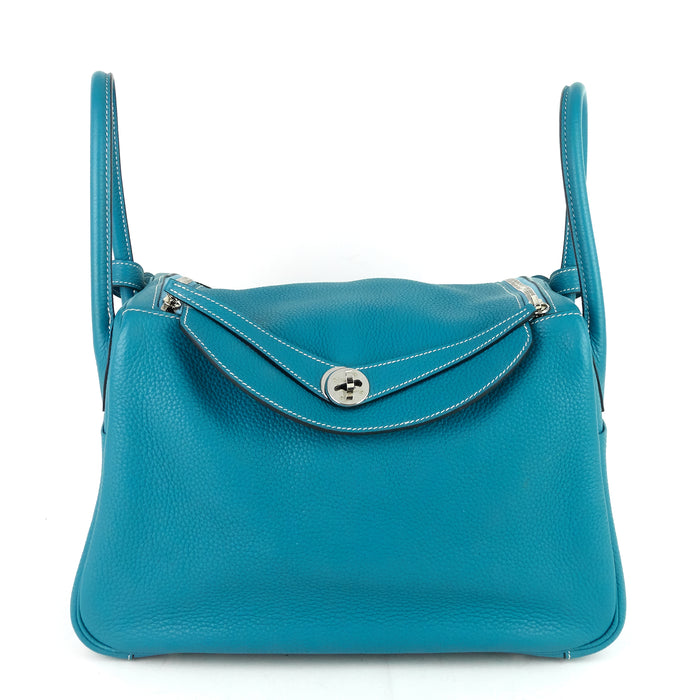 Lindy 34 Blue Clemence Leather Bag