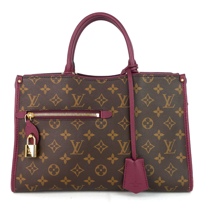 Popincourt PM Monogram Canvas Raisin Tote Bag