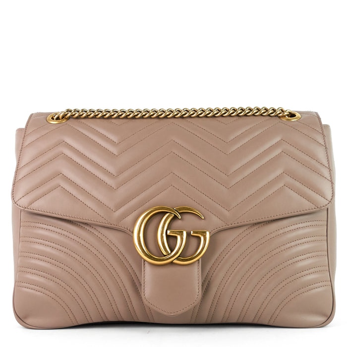 GG Marmont Large Chevron Leather Bag