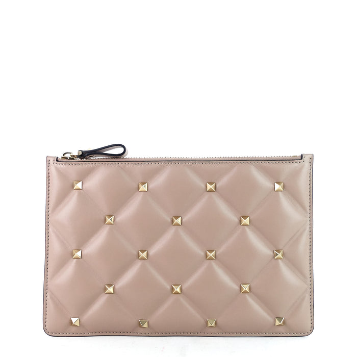 Candystud Small Leather Clutch Bag