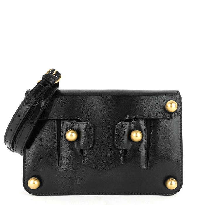 Gold Ball Leather Flap Bag