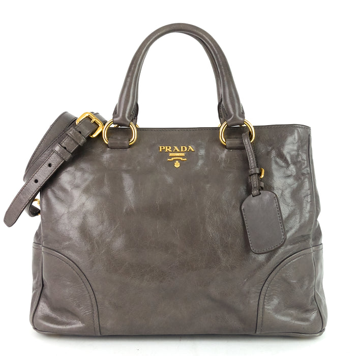 Vitello Shine Satchel Bag