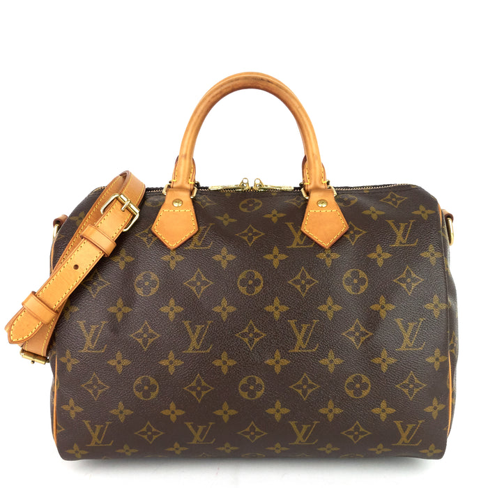 Speedy 30 Bandouliere Monogram Canvas Bag