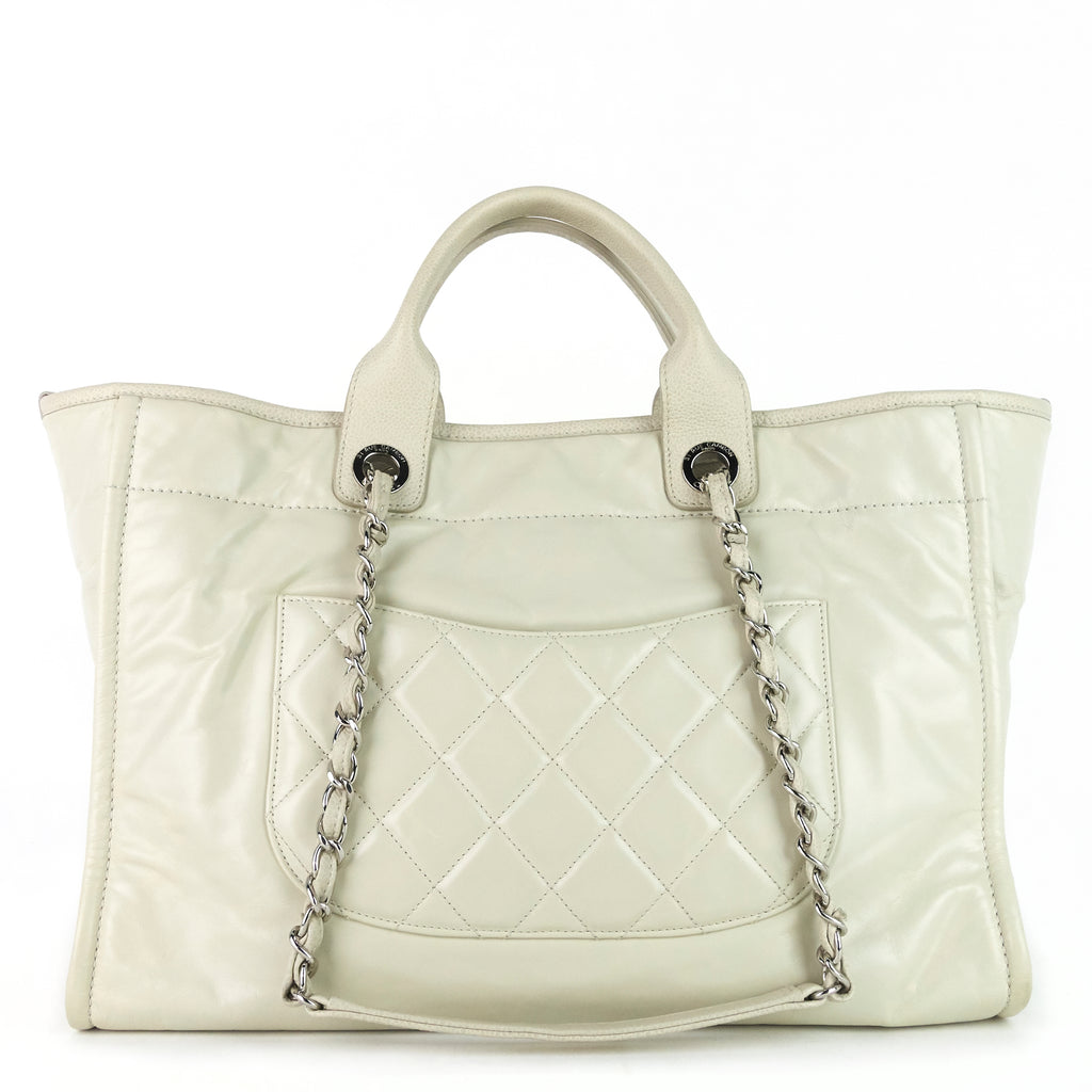 Deauville Large Calf Leather Bag