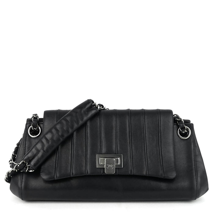 Lambskin Leather Fliplock Shoulder Bag