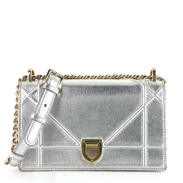 Diorama Metallic Leather Flap Bag