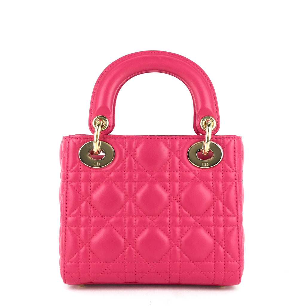 Lady Dior Mini Cannage Lambskin Leather Bag