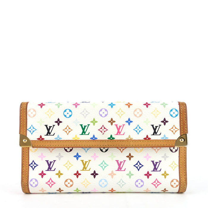 Porte Tresor International Monogram Multicolore Canvas Wallet